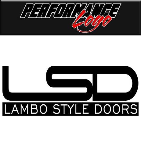 Lambo Style Doors decal, performance decal, sticker