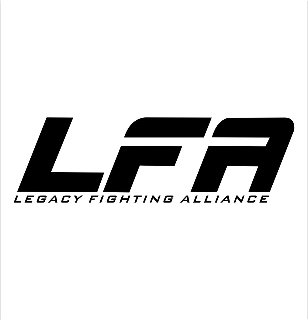 Legacy Fighting Alliance decal, mma boxing decal, car decal sticker