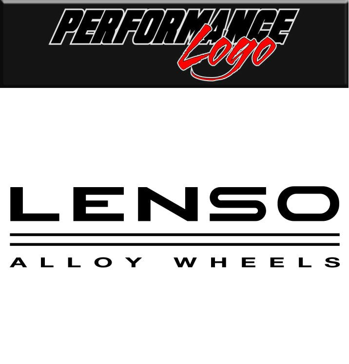 Lenso Wheels decal, performance decal, sticker