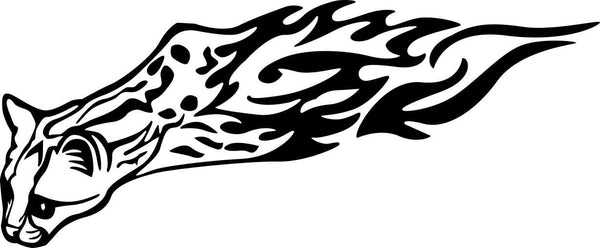 leopard flaming animal decal - North 49 Decals