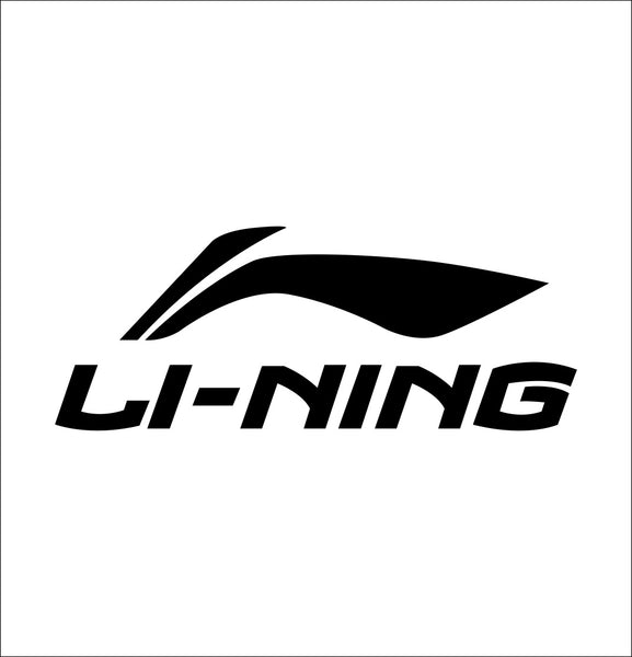 li ning decal, car decal sticker