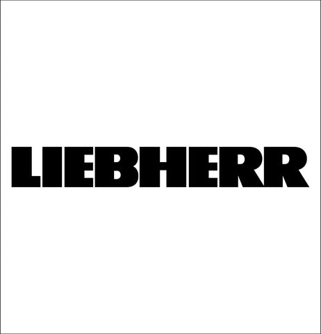 Liebherr decal, car decal sticker