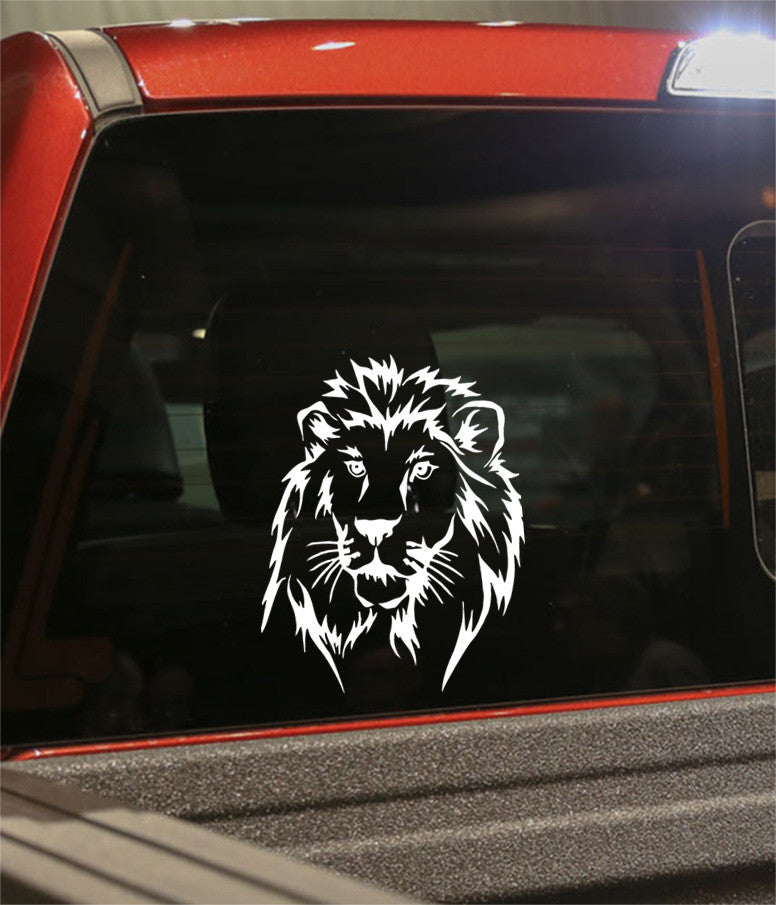 lion 2 flaming animal decal - North 49 Decals