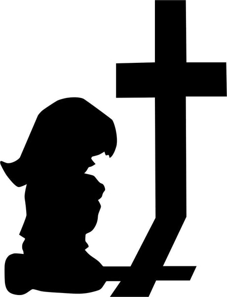 little girl praying religious decal - North 49 Decals