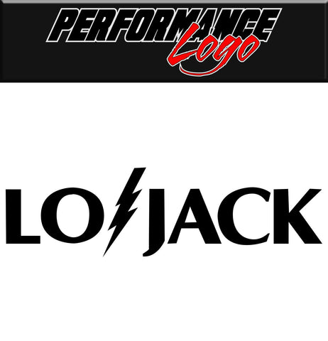 LoJack decal, performance decal, sticker