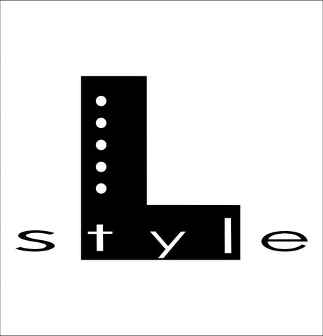 L Style decal, darts decal, car decal sticker