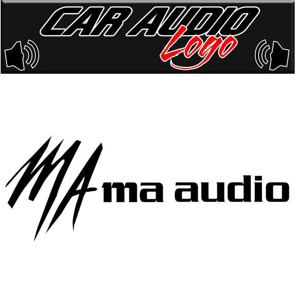 MA Audio decal, sticker, audio decal