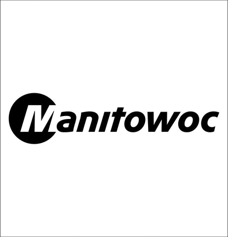 Manitowoc decal, car decal sticker
