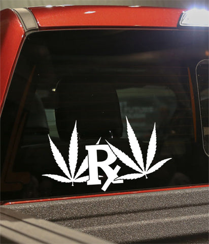 rx leaf marijuana decal - North 49 Decals