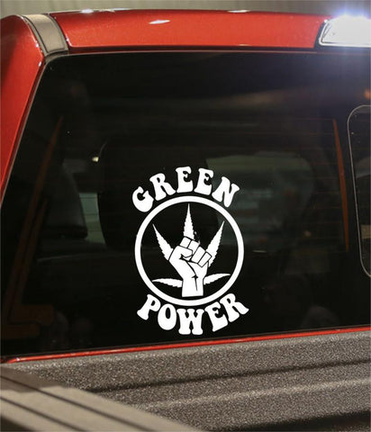 green power marijuana decal - North 49 Decals