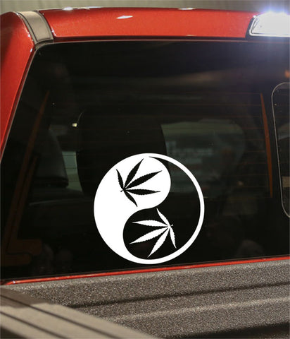 ying yang marijuana decal - North 49 Decals