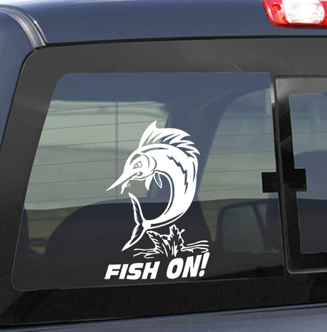 marlin fishing decal, car decal, window sticker