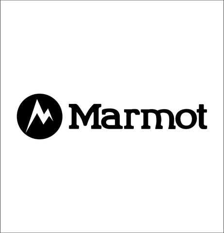 marmot decal, car decal sticker