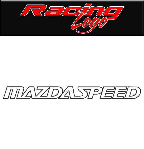 Mazda Speed decal, sticker, racing decal