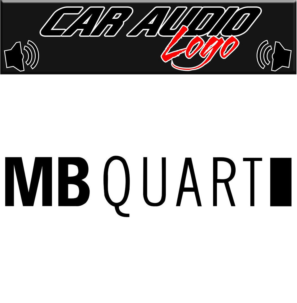 MB Quart decal, sticker, audio decal
