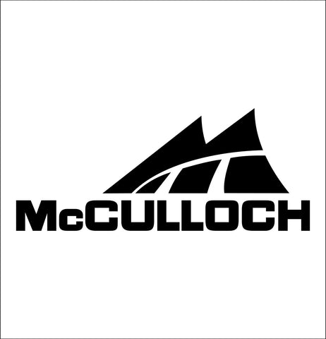 mcculloch decal, car decal sticker