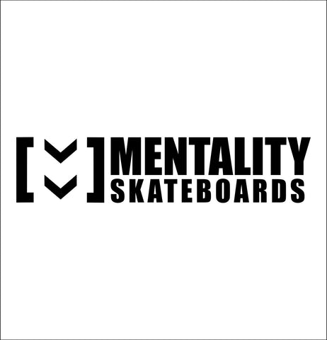 Mentality Skateboards decal, skateboarding decal, car decal sticker