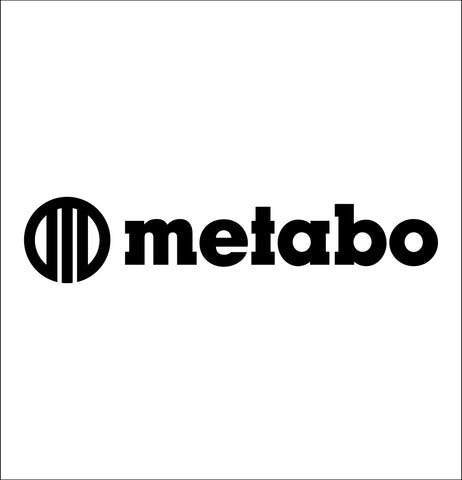 metabo decal, car decal sticker