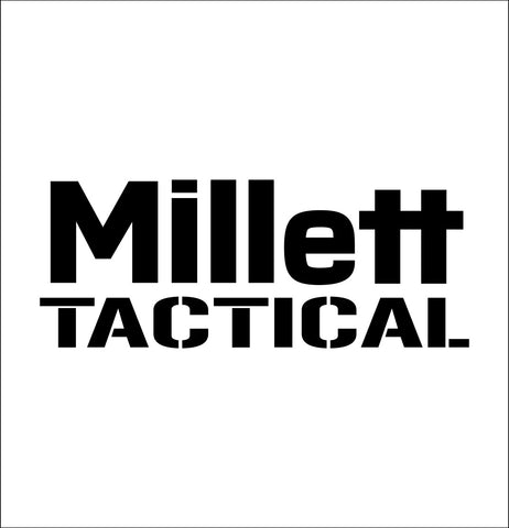 Millett Tactical decal, sticker, hunting fishing decal