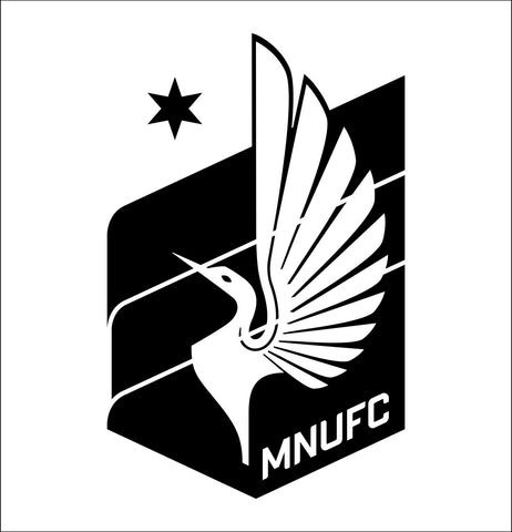 Minnesota United decal, car decal sticker