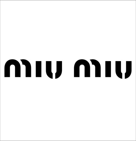 Miu Miu decal, car decal sticker