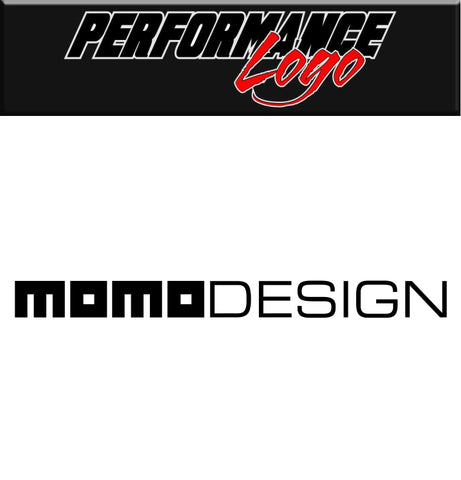 Momo Design decal, performance decal, sticker