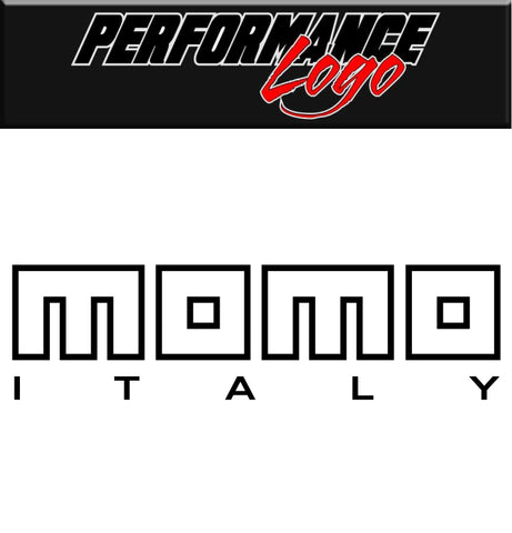 Momo Italy decal, performance decal, sticker