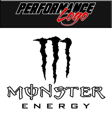 Monster decal, performance decal, sticker