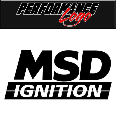 MSD Ignition decal, performance decal, sticker