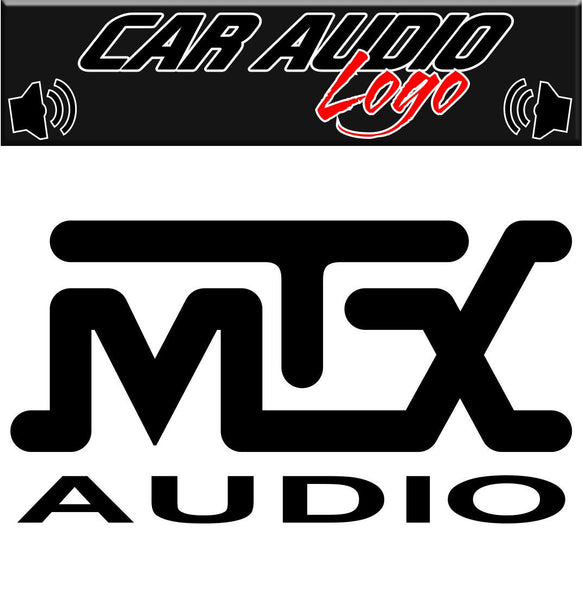 MTX Audio decal, sticker, audio decal