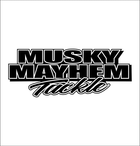 Musky Mayhem Tackle decal, sticker, hunting fishing decal