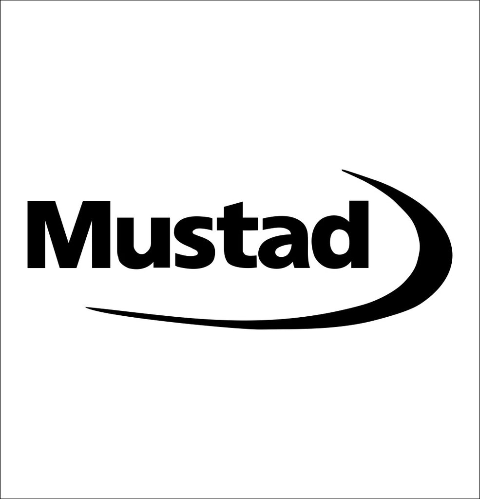 Mustad decal, sticker, hunting fishing decal