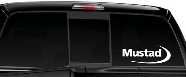 Mustad decal, sticker, car decal