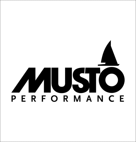 musto decal, car decal sticker