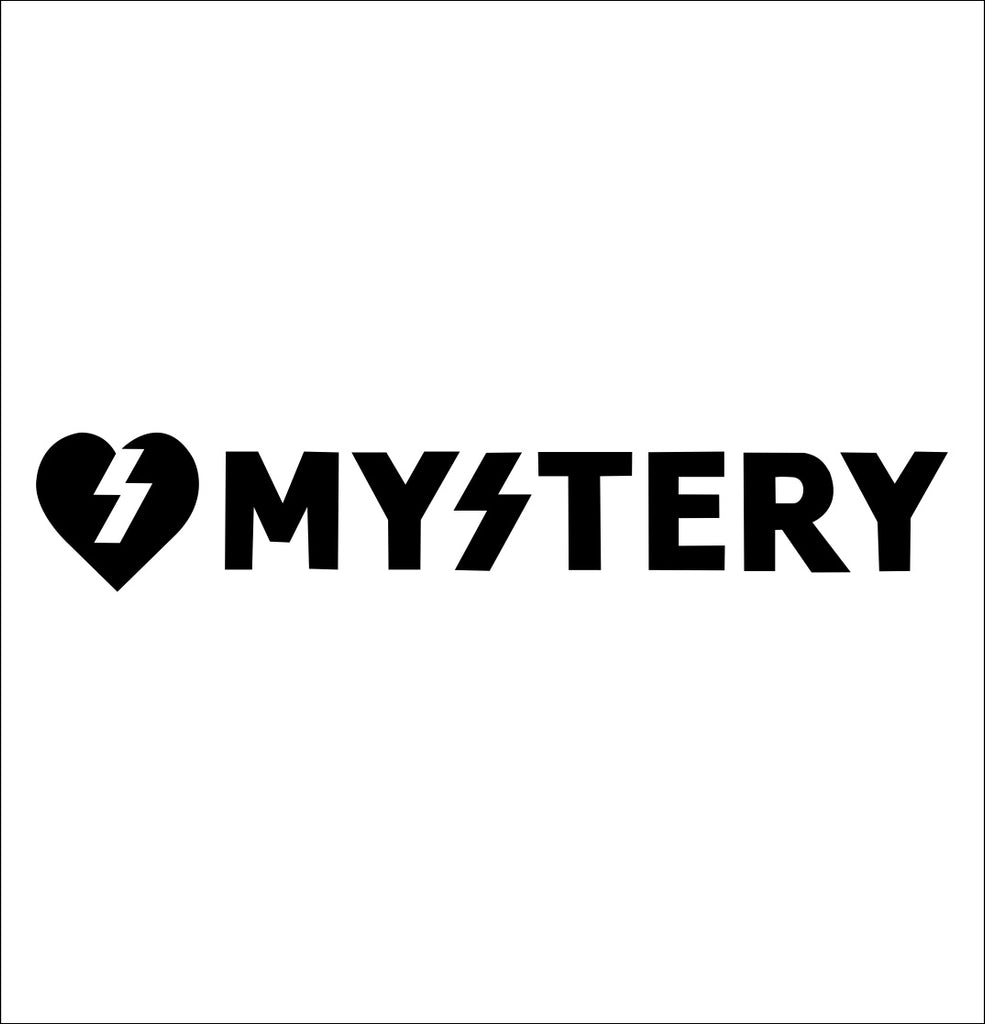 Mystery Skateboards decal, skateboarding decal, car decal sticker