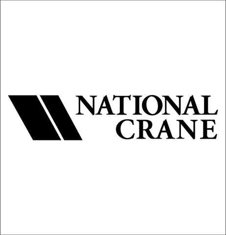 National Crane decal, car decal sticker