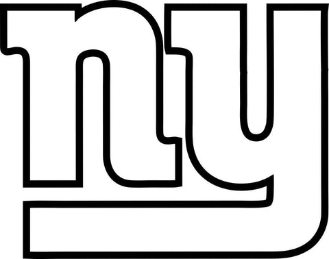 new york giants car window decal