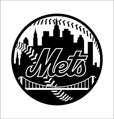 New York Mets decal, car decal sticker
