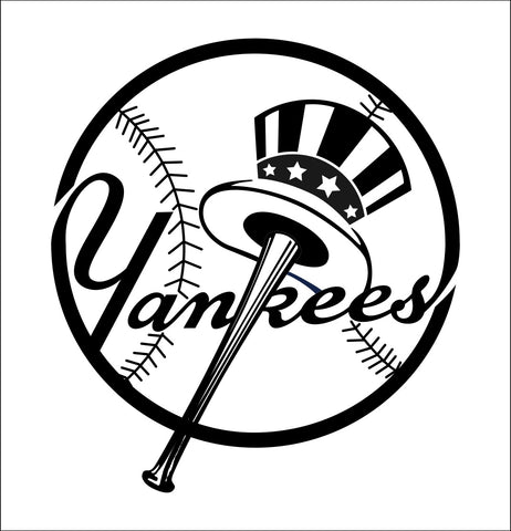 New York Yankees decal, car decal sticker