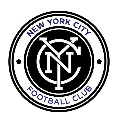 New York City FC decal, car decal sticker