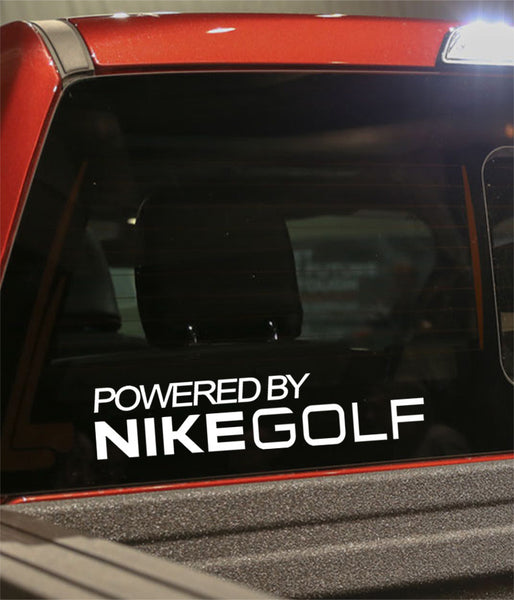 powered by nike golf decal - North 49 Decals