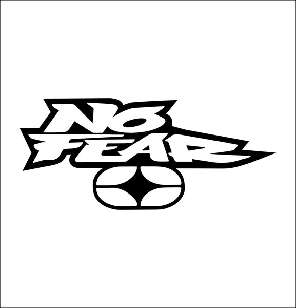 no fear decal, car decal sticker