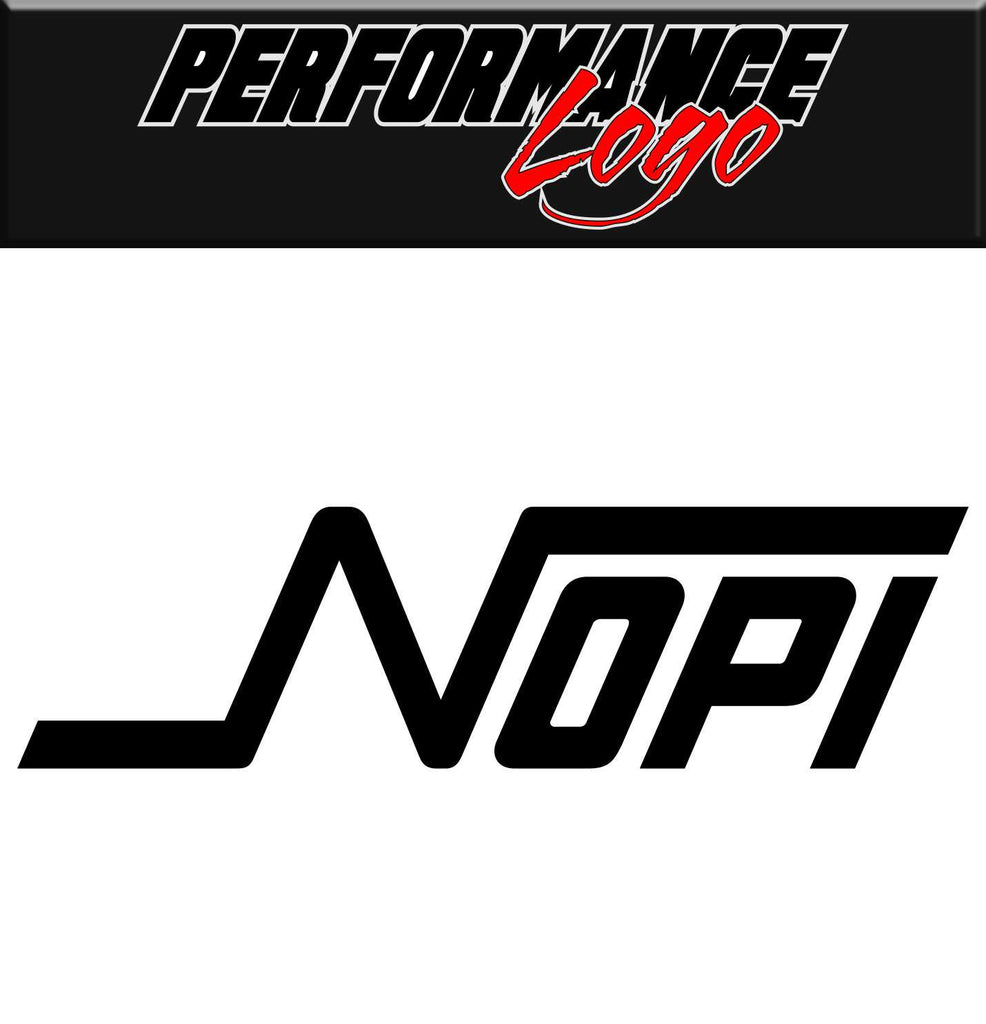 NOPI Motorsports decal, performance decal, sticker