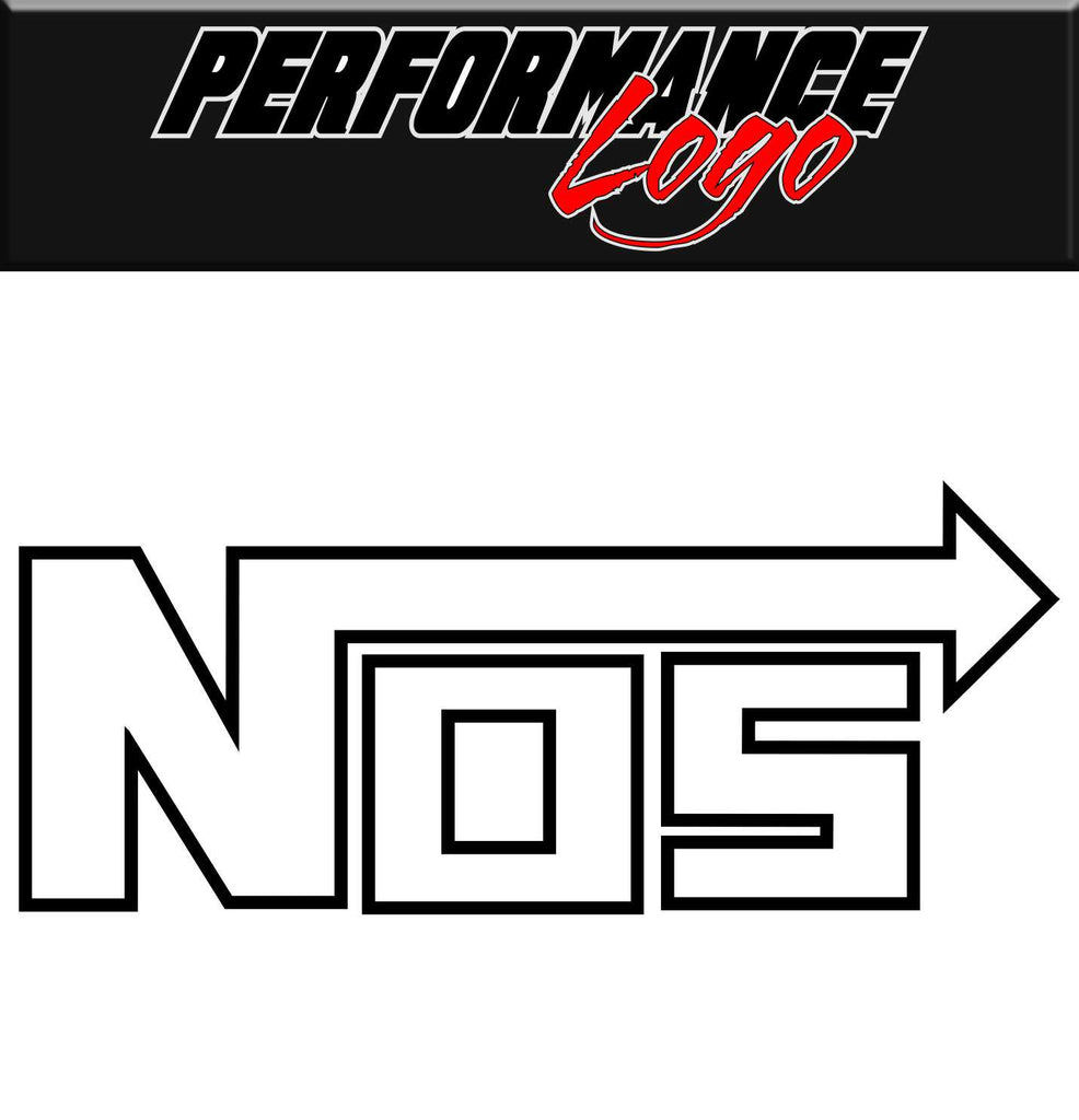 NOS decal, performance decal, sticker