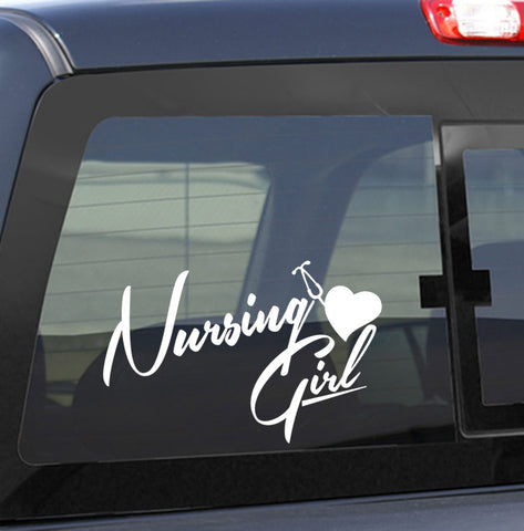 nursing girl nurse decal - North 49 Decals