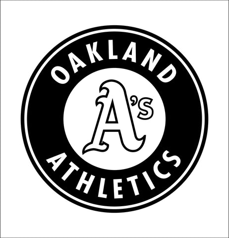 Oakland Athletics decal, car decal sticker