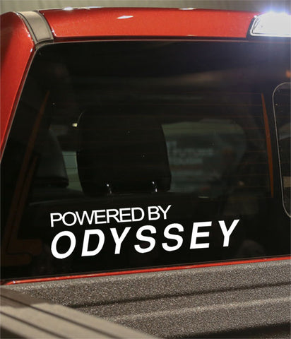 powered by odyssey golf decal - North 49 Decals