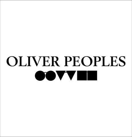 Oliver Peoples decal, car decal sticker
