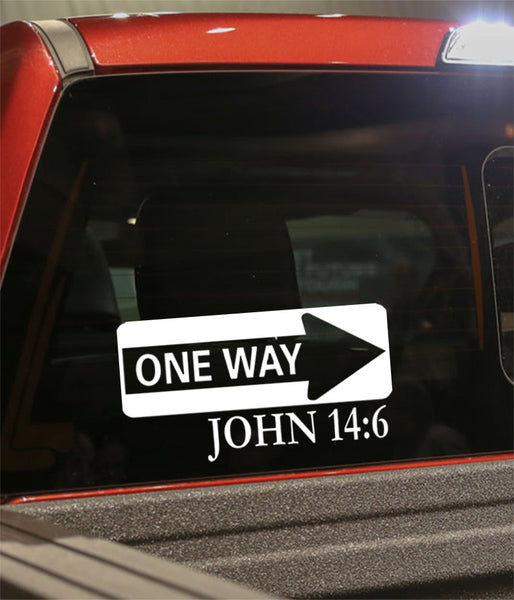 one way john 14:6 religious decal - North 49 Decals