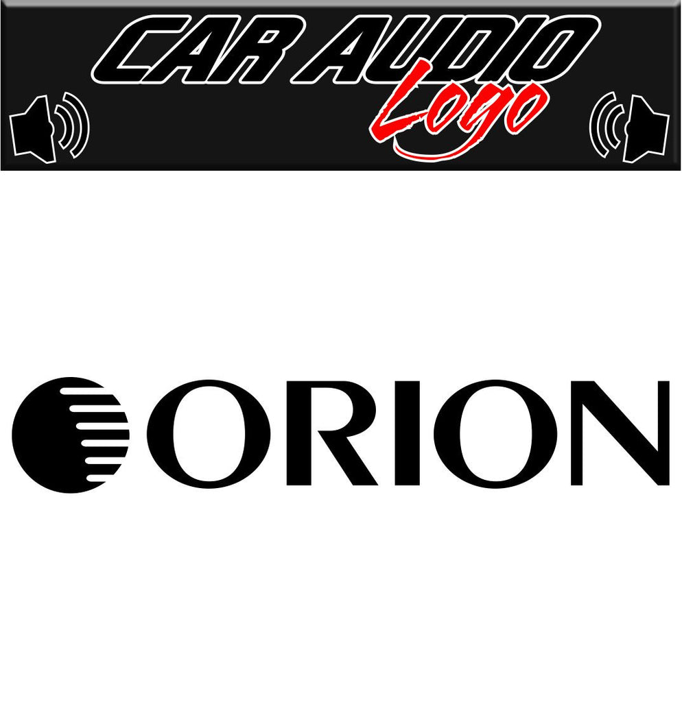 Orion decal, sticker, audio decal